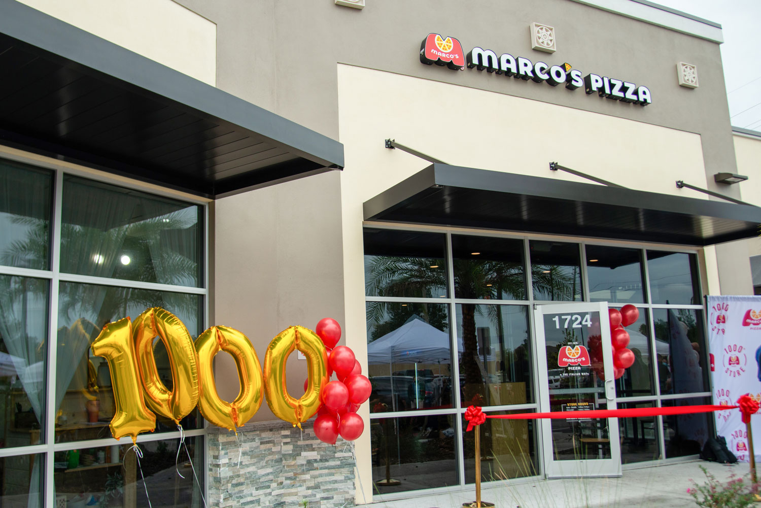 The grand opening of the 1000th Marco's Pizza location.