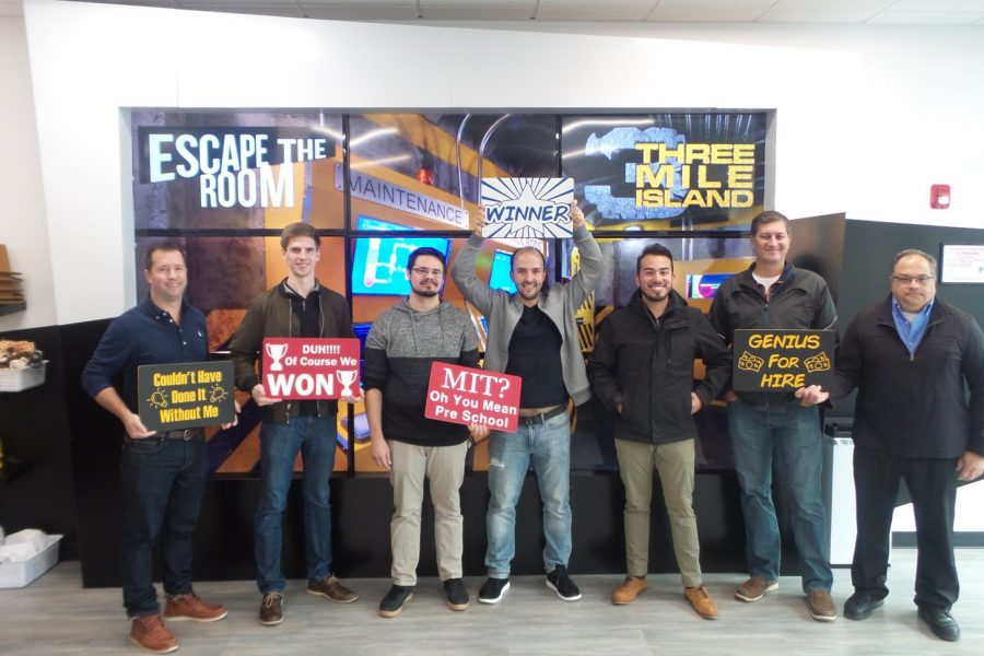 Escape Room Winning Team S-NET Communications.