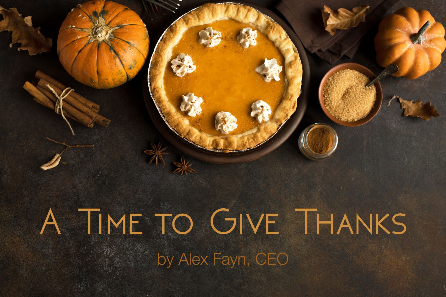 Thanksgiving message from S-NET CEO Alex Fayn