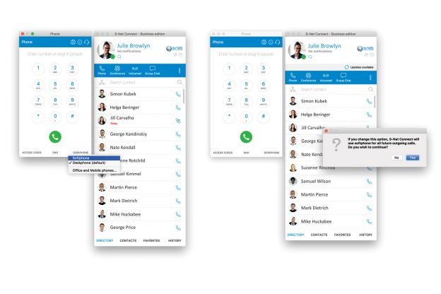 Calling External Numbers in the S-NET Connect Desktop Softphone VoIP Application