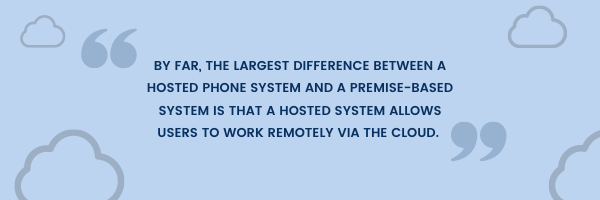 Difference between hosted and premise