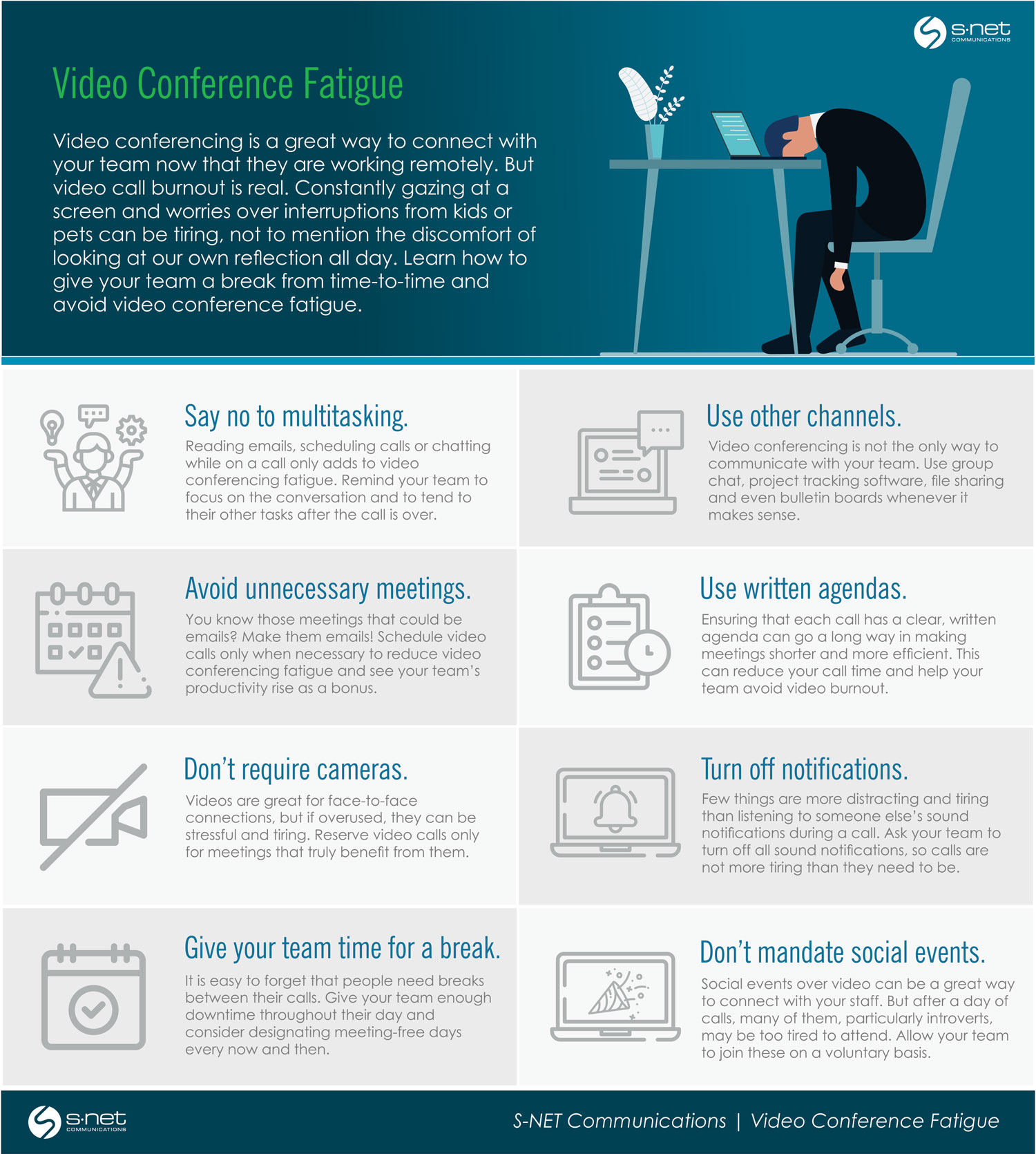 Infographic - Avoid Video Conferencing Fatigue